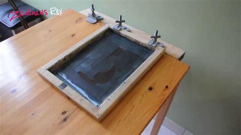 diy screen print india silkscreen table modification youtube