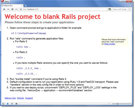 rails app template ruby on rails on windows in production codeproject