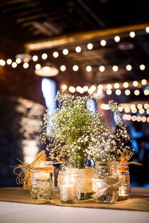 Home Decor Yellow And Gray by Baby S Breath Flower Centerpieces In Mason Jars With