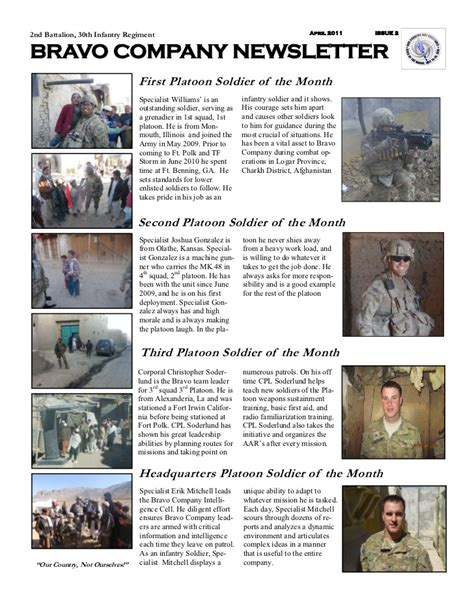 April Frg Newsletter Army Frg Newsletter Template