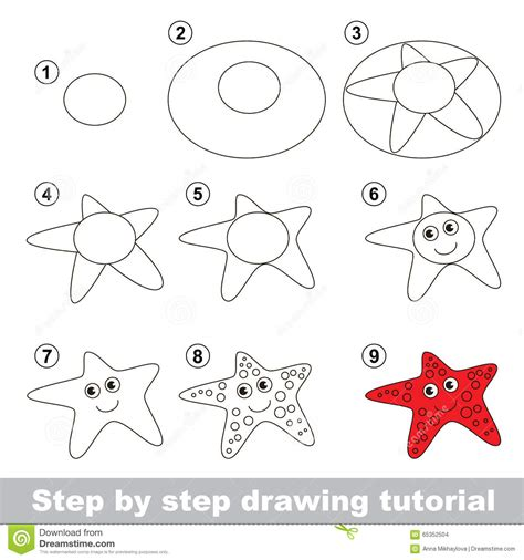 html tutorial a to z starfish drawing for kids
