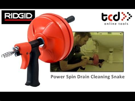 How to Unblock a Sink / Drain   Ridgid Power Spin Drain Cleaner   YouTube