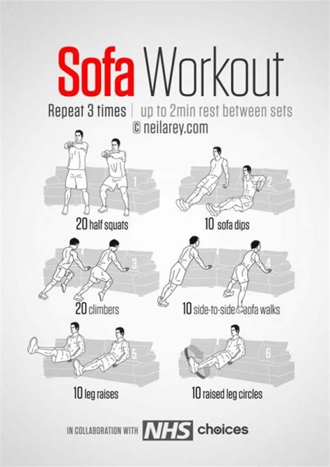 easy couch exercises workout routines