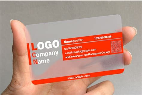 customized pvc business card visit card printing custom