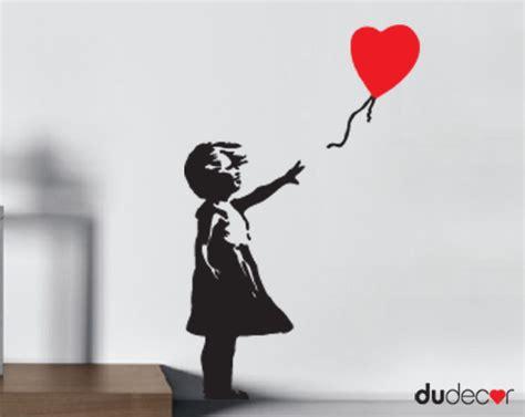 Banksy Home Decor by Banksy Murales Adesivo Bambina Palloncino Dudecor