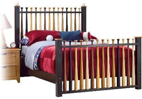 baseball bat bed eco friendly bed frame diy woodworking projects