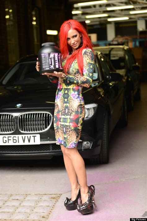 jodie marsh wears teapot shoes for this morning