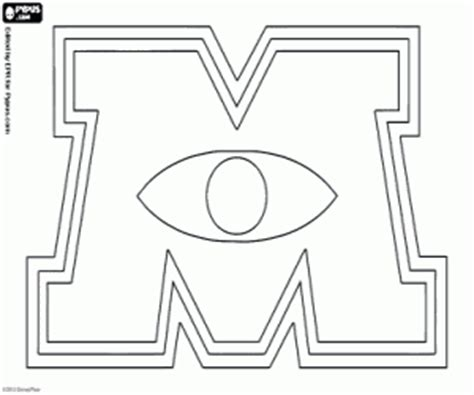 U Of M Coloring Pages by Monsters Coloring Pages Printable 3