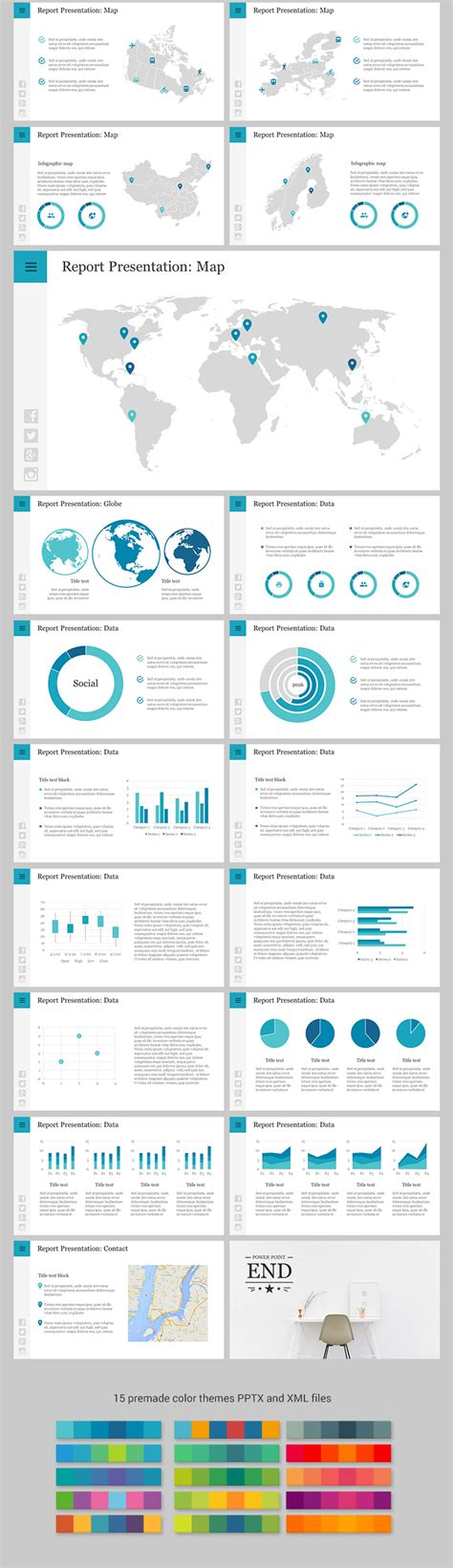 powerpoint themes for reporting report powerpoint template download now