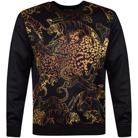 versace jeans versace jeans black gold tiger print