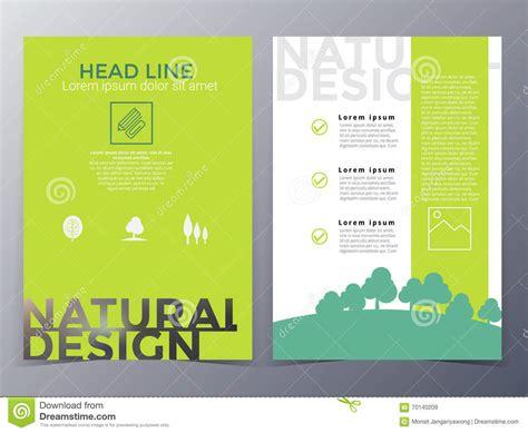 nature brochure template or flyer design stock business and nature brochure design template vector stock