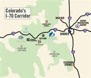 i 70 map colorado i 70 corridor hit 7 resorts in 7 days