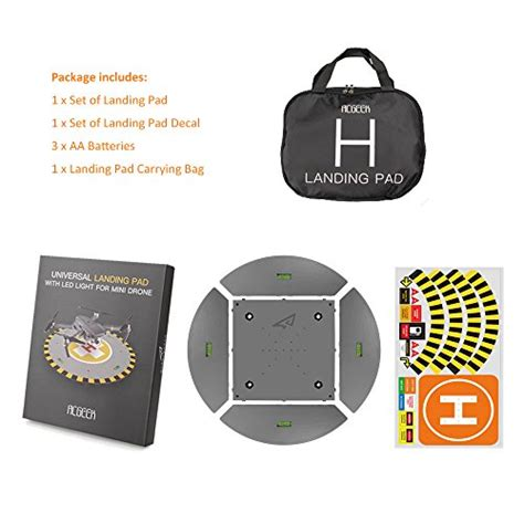 rcgeek drone landing pad launch pad  led lights