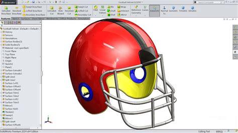 solidworks tutorial helmet solidworks tutorial sketch football helmet in solidworks