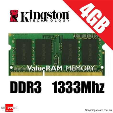 Memory Laptop Ddr3 4gb kingston 4gb ddr3 1333mhz laptop ram pc 10600 so dimm shopping shopping square