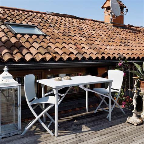 tavoli da terrazzo pieghevoli tavolo e sedie pieghevoli da giardino e terrazzo zic zac
