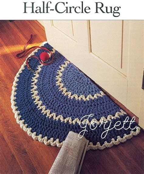 details about half circle rug easy q hook crochet