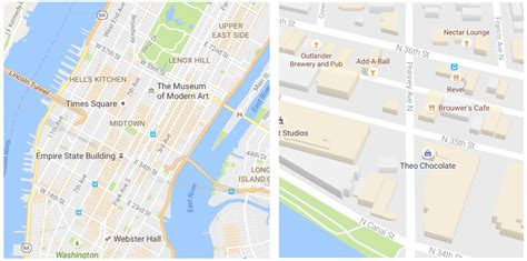 google maps gets cleaner look and orange areas of google maps gets a cleaner look and starts highlighting