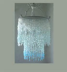 sea glass chandeliers sea glass chandelier lighting fixture coastal decor blue ombre