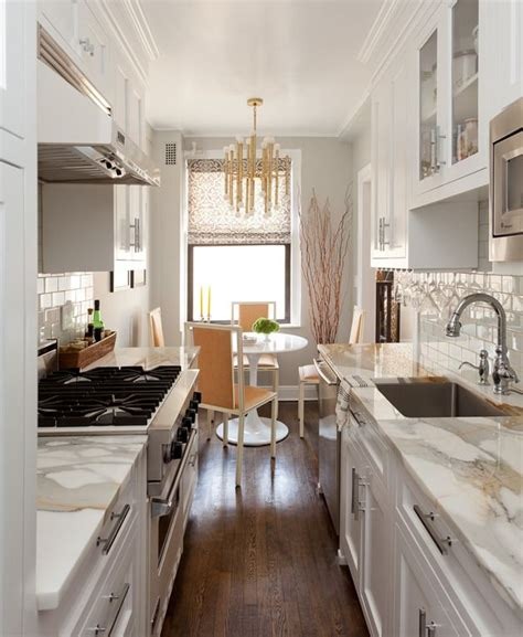 apartment galley kitchen ideas cozy manhattan apartment combines vintage flare with
