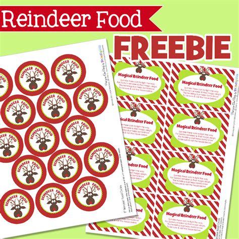 printable reindeer food labels 5 best images of reindeer food printable template