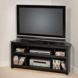 corner tv stands for flat screens vasari 48 quot corner tv stand in black bcv 4722