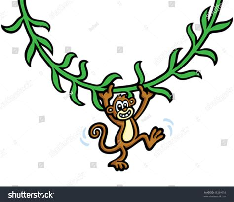 baby monkey swing baby monkey swing stock vector illustration 56239252