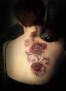Beautiful rose design tattoo for female back beautiful rose tattoo