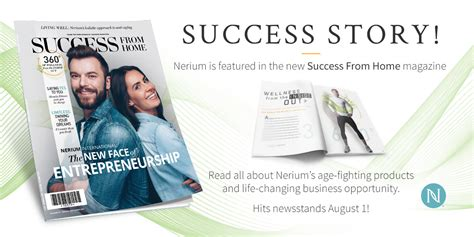 nerium international featured in success from home