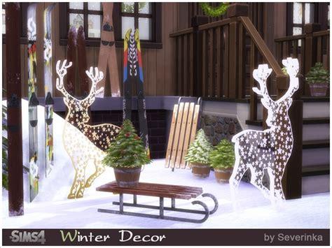 winter outdoor decor severinka s winter outdoor decor set