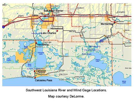 louisiana map lake charles hurricane national weather service lake charles la