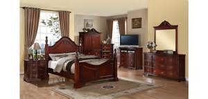 solid wood poster cherry bedroom set g9100a furniture