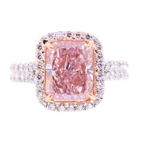 pink price 3 carat pink ring platinum and 18k pink