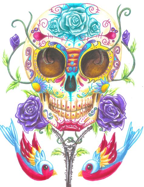 day of the dead by cutekillerdog on deviantart
