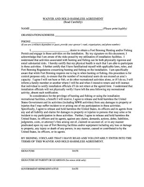 sle hold harmless agreement mapletrader fill printable fillable blank