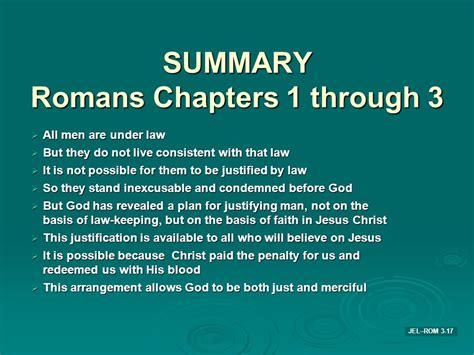 Romans Chapter 3 Outline by A Study Of The Apostle Paul S Epistle To The Romans Ppt