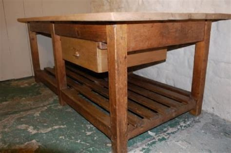 Antique Kitchen Work Tables Antique Industrial Pine Kitchen Island Work Mill Table 159611 Sellingantiques Co Uk