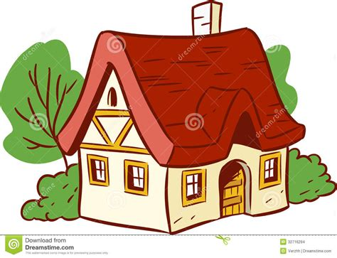 cartoon house small cartoon house illustration shows done style isolated