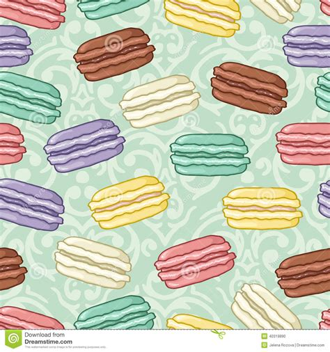 cute macaron pattern seamless cute macaroon pattern stock vector illustration