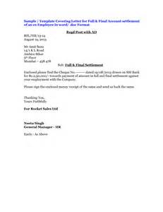 Full And Final Settlement Offer Letter Template Full And Final Settlement Letter Format Best Template