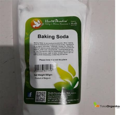 Health Paradise Baking Soda 500 Gm detil produk baking soda 500gr