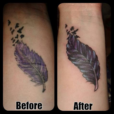 feather cover up tattoo feather cover up by boulger on deviantart