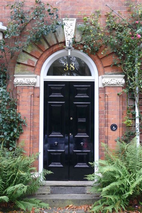 Front Door Number Gold House Numbers Traditional Front Doors Other Metro By The Fanlight Number Co