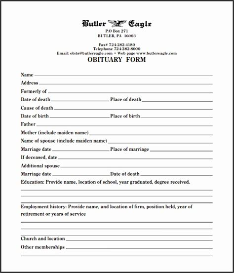 Free Editable Obituary Template 4 Editable Obituary Template Sletemplatess Sletemplatess