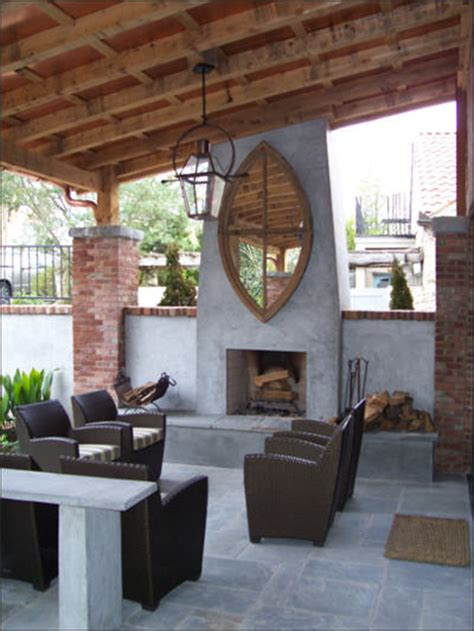 Outdoor Lanai by Outdoor Fireplace Ideas