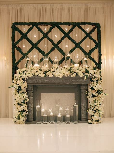 6ft cascading fireplace garland white floral garland on mantel ceremony decor floral garland garlands and mantels