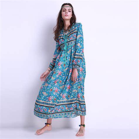 aliexpress buy 2017 fashion floral print chiffon maxi dress boho sleeve v