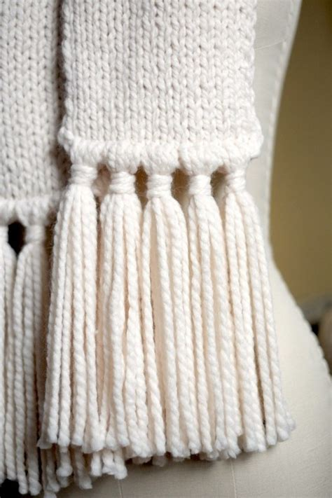 how to add tassels to knitted scarf add tassels to a scarf what i do