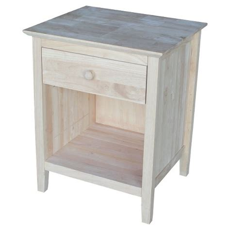 Unfinished Nightstand by Stand Unfinished International Concepts Target