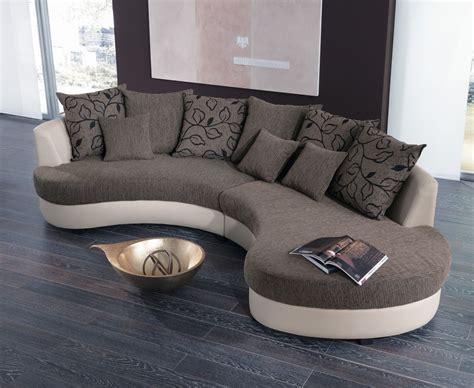 wohnzimmer modern einrichten 4137 wohnlandschaft rund braun beige beany living interior